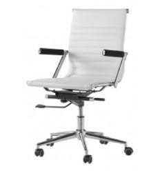 Sillón de oficina moderna blanca de Camino a casa - ZETA 40 RUEDAS