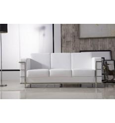 Sofá moderno polipiel blanco 2 plazas de SDM - DUVAL