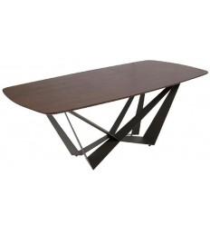 Mesa de comedor moderna madera metal de Pons - DASH