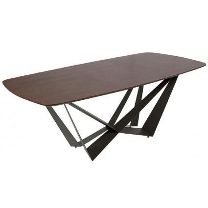 Mesa de comedor moderna madera metal de Pons - DASH