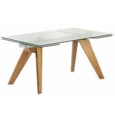 Mesa de comedor rectangular y extensible Mountain