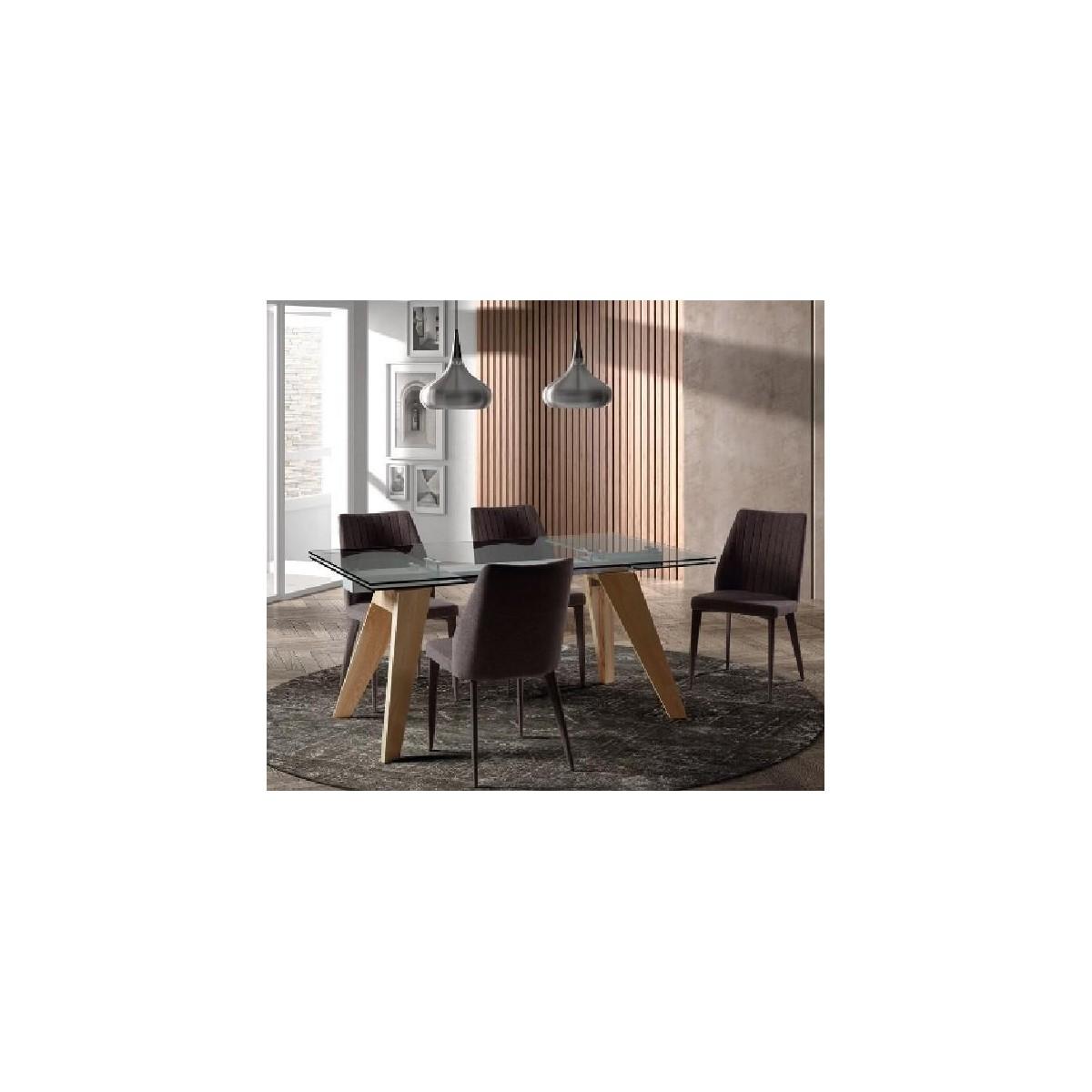 Mesa comedor moderna cristal de camino a casa mountain for Camino a casa muebles