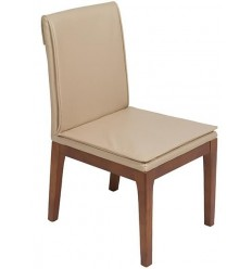 Silla moderna polipiel beige de Pons - AKTUAL