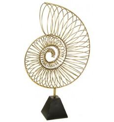 Caracola de alambre dorado de Santiago Pons - CARACOLA GOLD