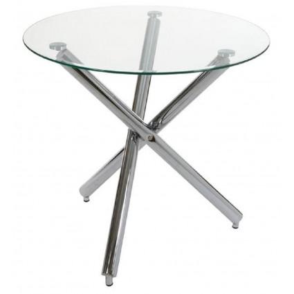 Mesa de comedor moderna redonda cristal de Santiago Pons - CLAS