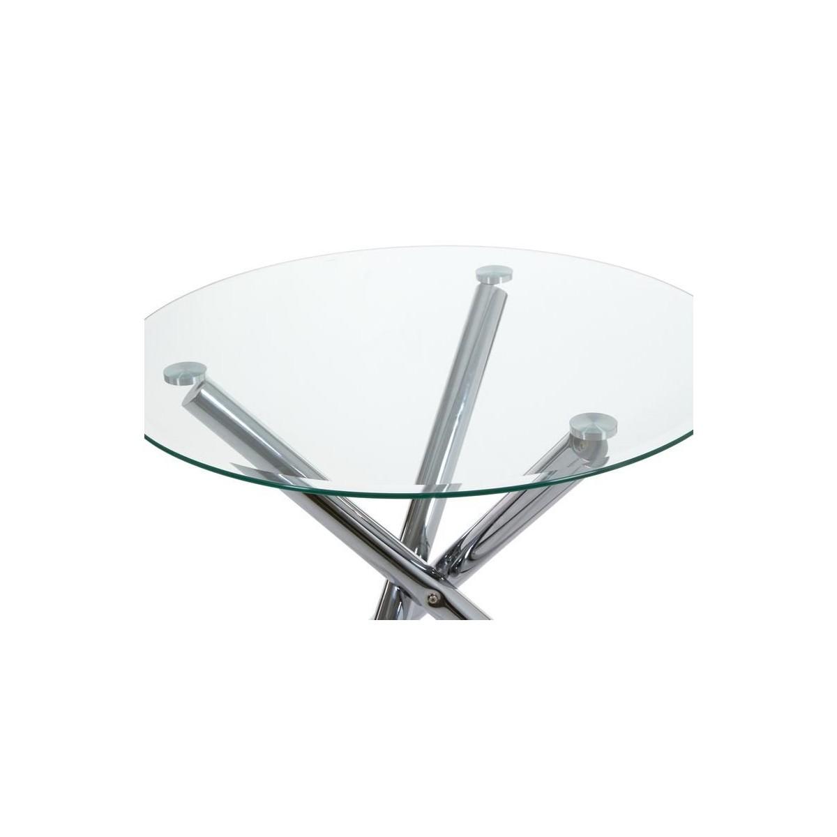 Mesa de comedor moderna redonda cristal de santiago pons for Santiago pons decoracion