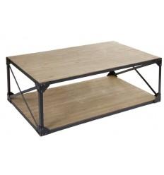 Mesa de centro estilo industrial madera de Santiago Pons - TORONTO