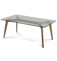 Mesa de centro de diseño cristal madera de SDM - NAIROBI