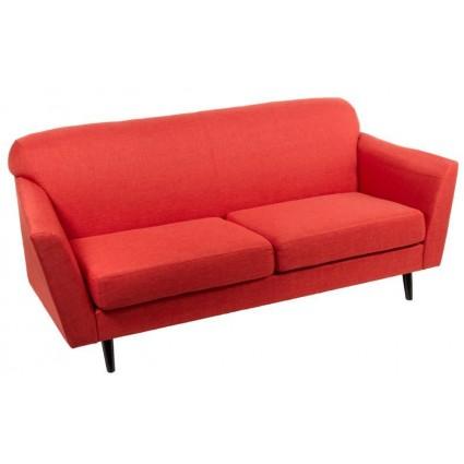 Sofá moderno tela rojo 3 plazas de Santiago Pons - ABBEY