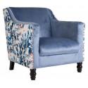 Sillón vintage azul grande de Vical Home - TROYES