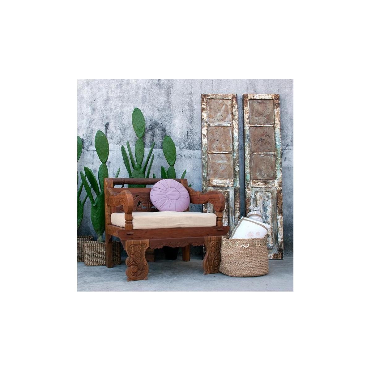Sill n estilo oriental madera de vical home murzuk for Sillon terraza madera