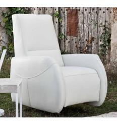 Sillón relax moderno blanco de Monterelax - GINGER