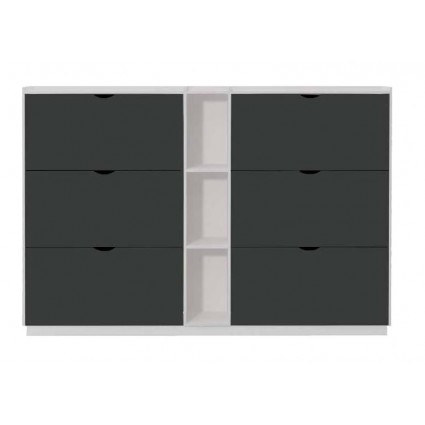 Zapatero moderno blanco y gris de pelayo siena for Muebles gris moderno