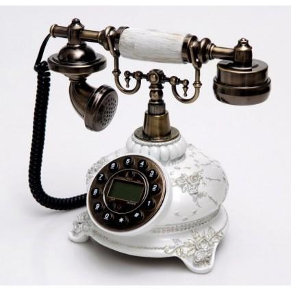 Teléfono clásico blanco de Burkina Home - Johnas