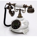 Teléfono clásico blanco de Burkina Home - MARIE