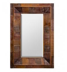 Espejo rústico de madera de Burkina - CORTIJO