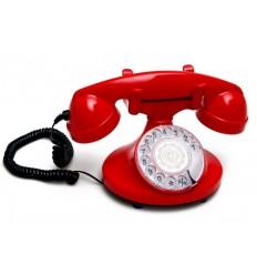 Teléfono vintage circular rojo - JANSEN