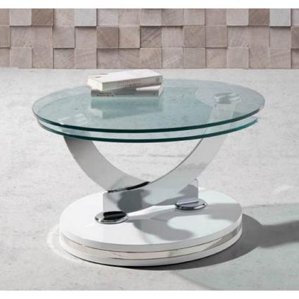Mesa de centro moderna articulada blanca de Angel Cerdá