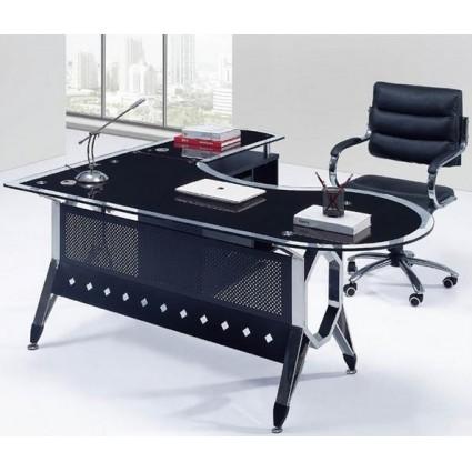 Mesa de oficina cristal moderna 180x85 cms SDM - COLOGNE-D180