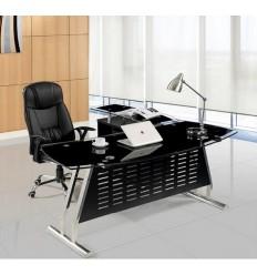 Mesa de oficina cristal moderna 160x80 cms de SDM - ACRE