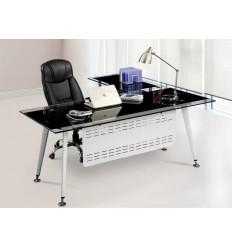 Mesa de oficina cristal moderna 180x85 cms de SDM - DOHA-180I