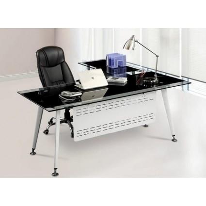 Mesa de oficina cristal moderna 160x80 cms de SDM - DOHA-160I