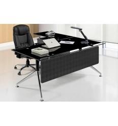 Mesa oficina cristal negro 180x85 cms de SDM - GORT-180I