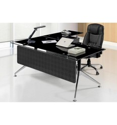 Mesa oficina cristal negro 180x85 cms de SDM - GORT-180D