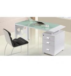Mesa de oficina con cristal y cajonera de SDM - JACKIE-140