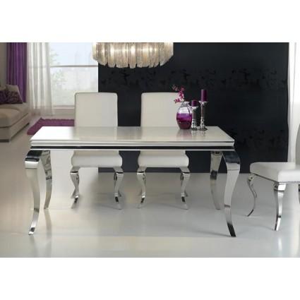Mesa de comedor acero y cristal de Schuller - BARROQUE 160