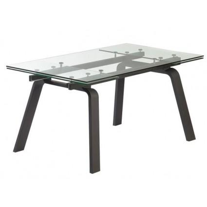 Mesa de comedor negra extensible cristal de Camino a Casa - MOON