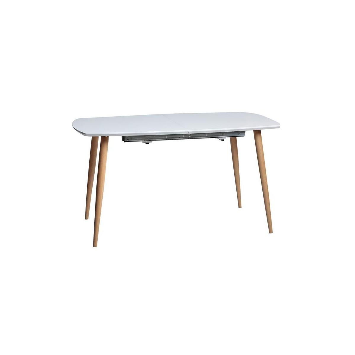 Mesa de comedor extensible n rdica blanca de marckeric lena for Mesa comedor blanca extensible