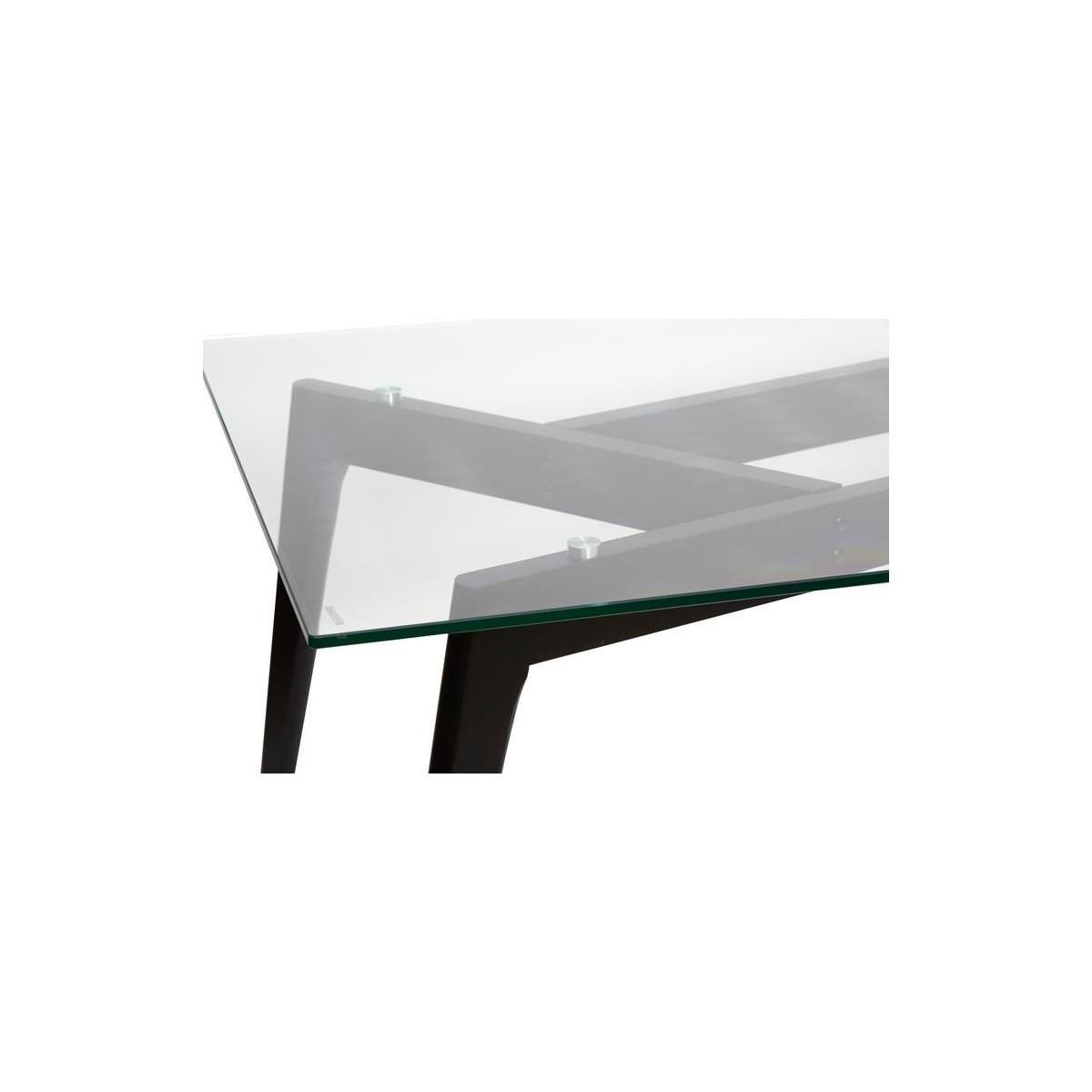 Mesa rectangular moderna cristal y madera de marckeric janis for Mesa cristal y madera