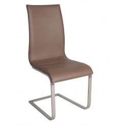 Silla moderna polipiel marrón acero inoxidable de Marckeric - ARAMIS