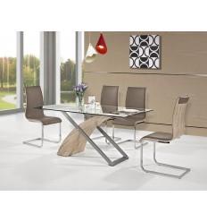 Pack Ahorro Mesa de comedor + 6 sillas marrones de Marckeric - ARAMIS