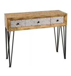 Consola Recibidor Shabby Chic de madera y metal de Santiago Pons - NARA