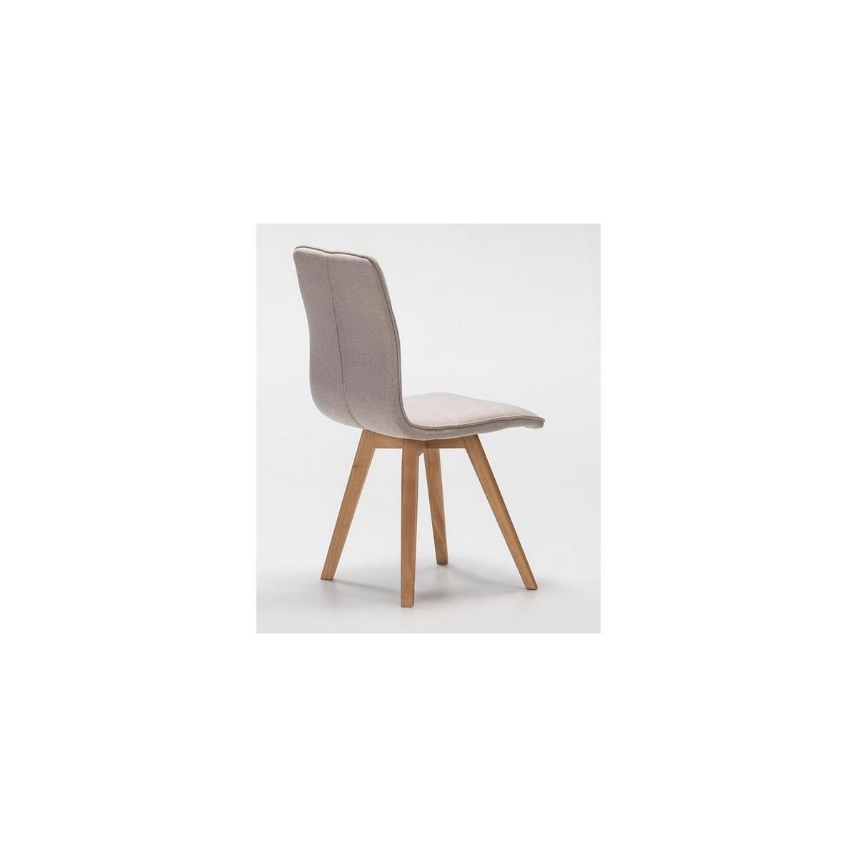 Silla moderna tela marr n y madera de hevea de marckeric - Tela para sillas ...