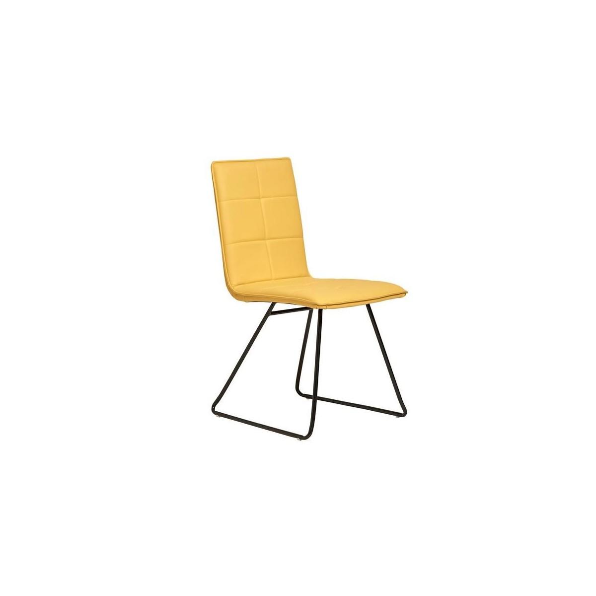 sillas de comedor de polipiel amarillas