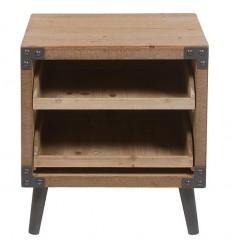 Mesita de noche estilo industrial de madera de Santiago Pons - FABRIC