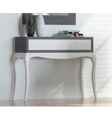 Consola de estilo provenzal moderno blanco y gris de Cubimobax - TAIA