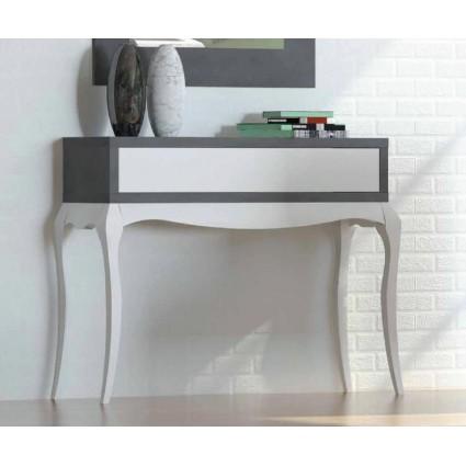 Consola de estilo provenzal moderno blanco y gris de for Muebles estilo moderno