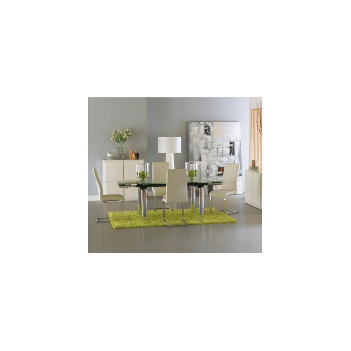 Mesa de comedor rectangular extensible moderna de camino a for Mesas camino a casa