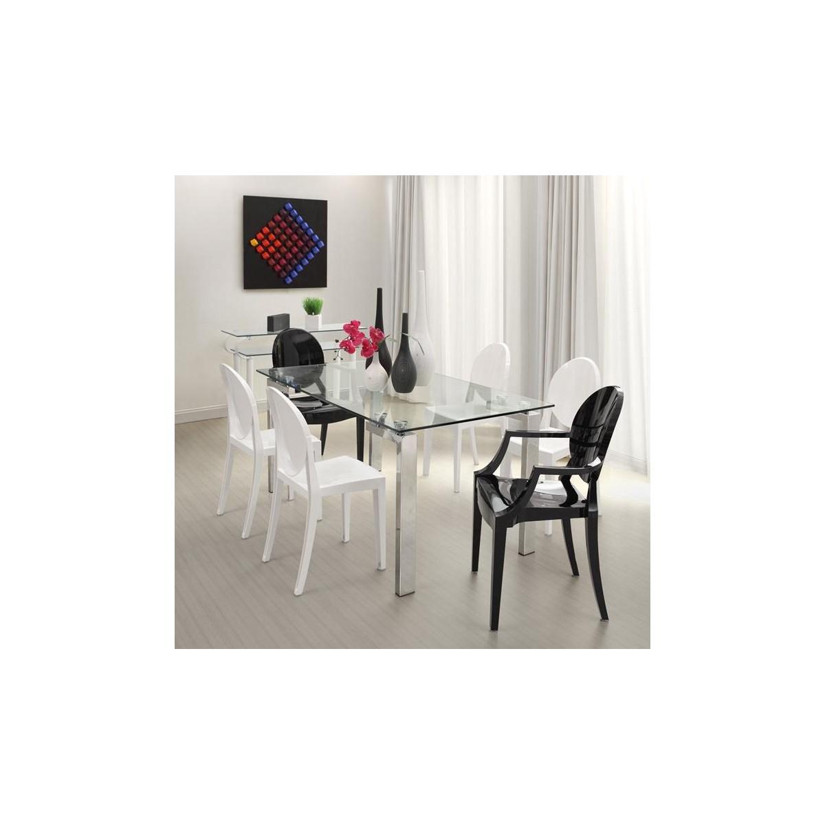 Mesa comedor cristal moderna de sdm lainey - Cristal de mesa ...