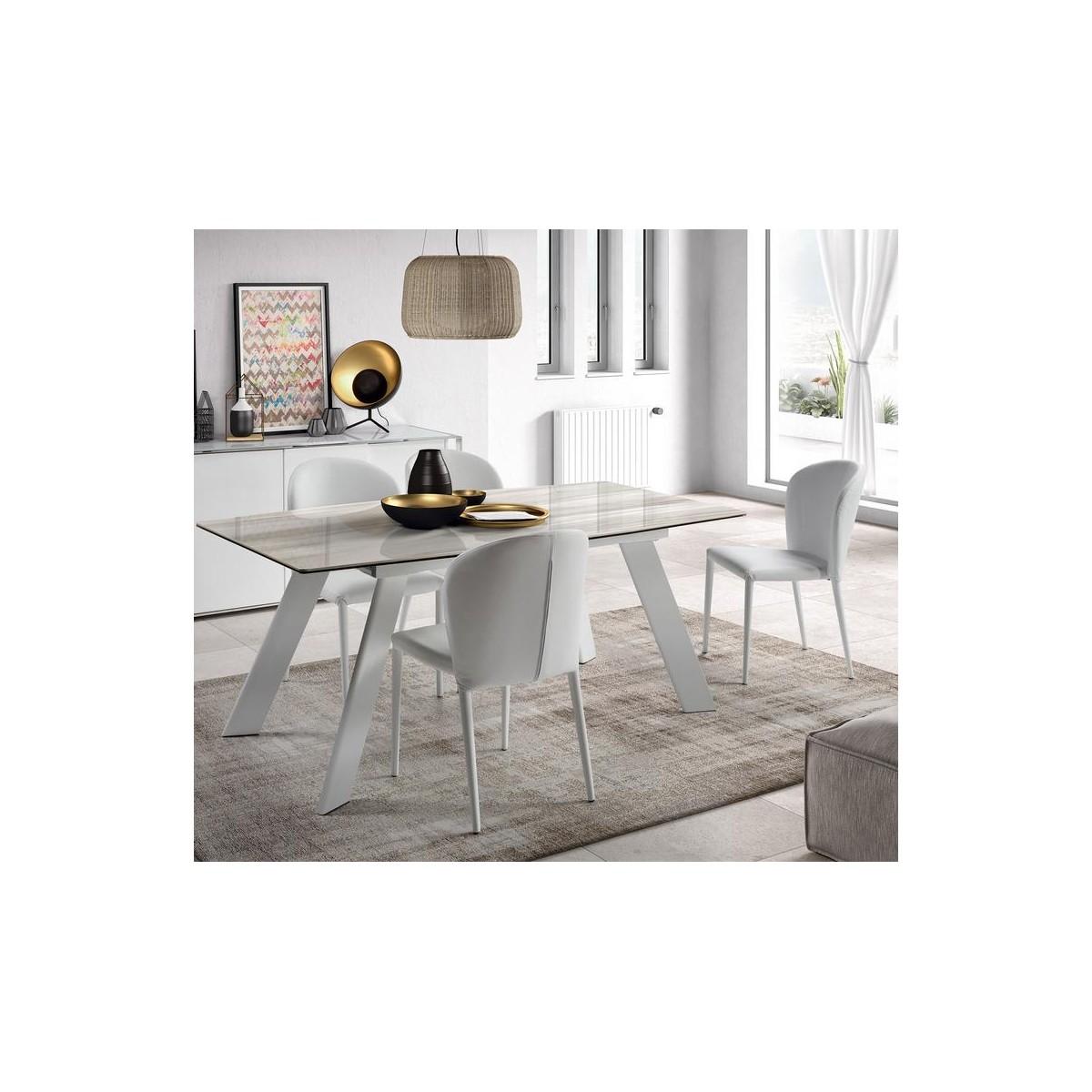 mesa de comedor moderna extensible camino a casa marble