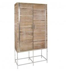 Vitrina estilo industrial de madera y acero - PARM