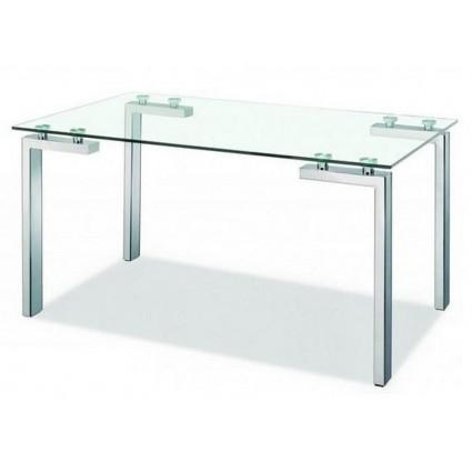 Mesa comedor cristal moderna de sdm lainey for Mesa cristal moderna