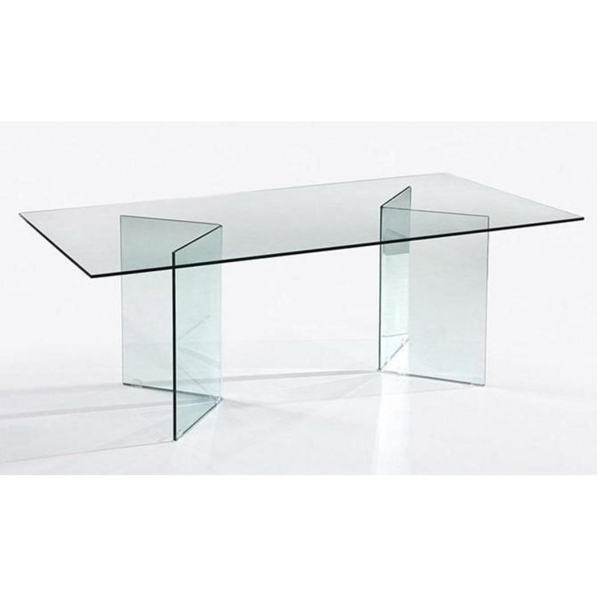 Mesa comedor u oficina moderna cristal de sdm otish - Cristal de mesa ...