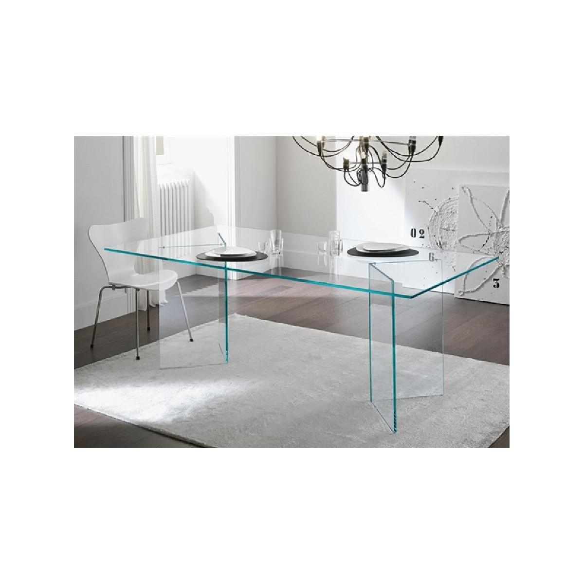 Mesa comedor u oficina moderna cristal de sdm otish for Mesa cristal oficina
