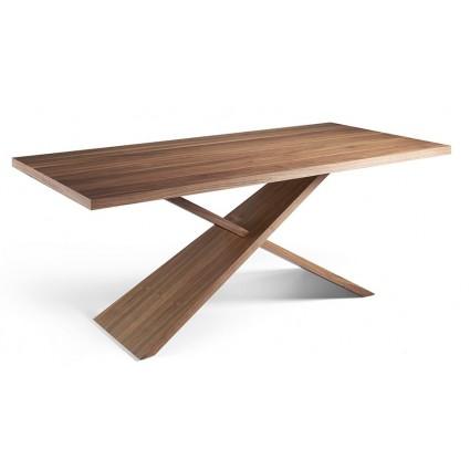 Mesa de comedor de madera maciza nogal de Angel Cerdá - GOB-N5452