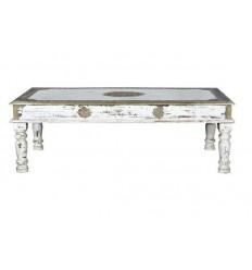 Mesa de centro blanca de madera estilo exotico - SAPHIR